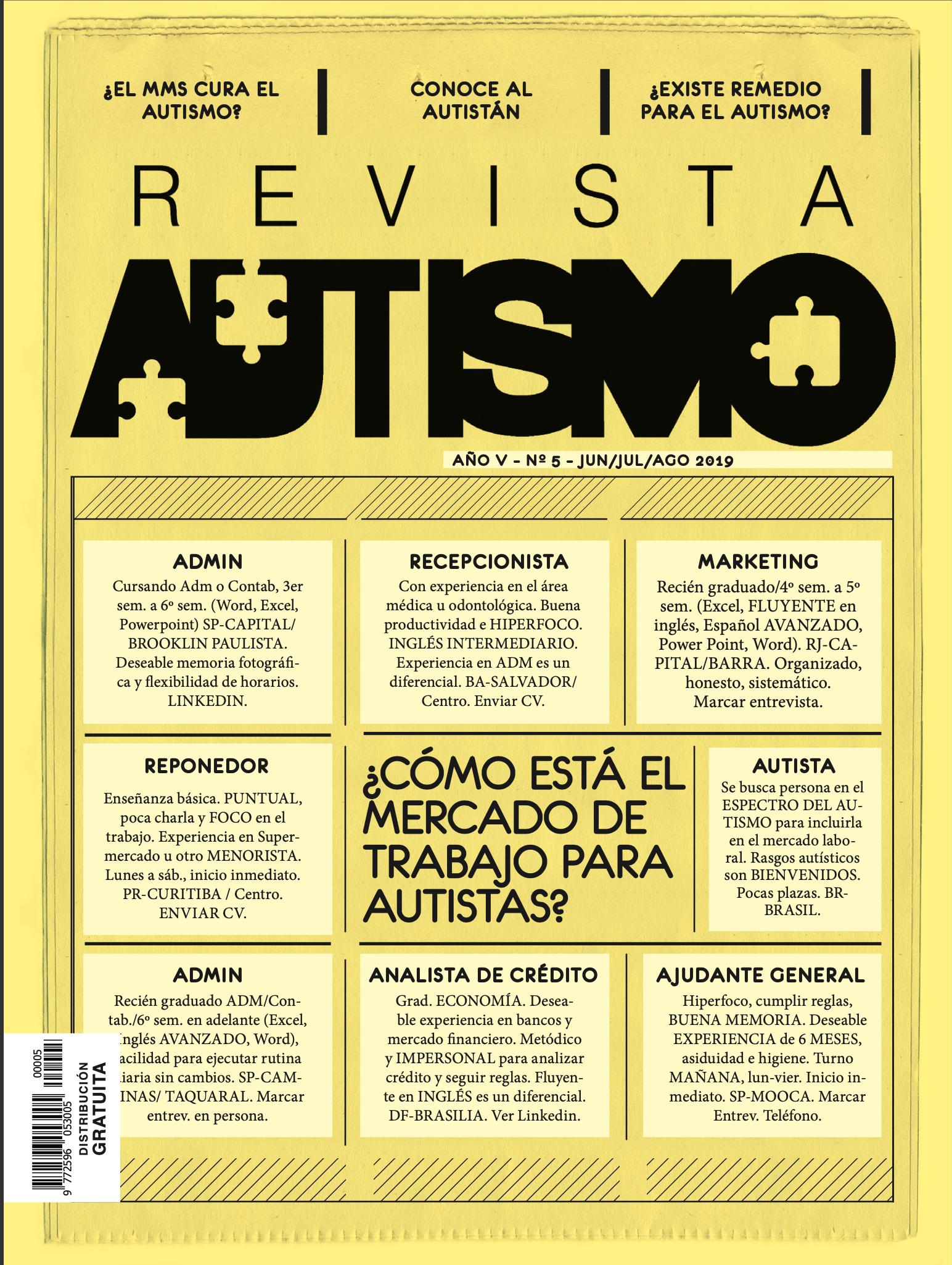 portada da Revista Autismo 5-ESPANOL