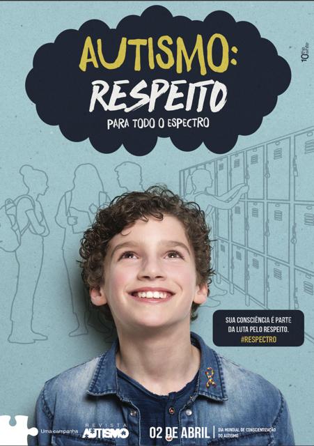 Cartaz da campanha nacional 2020 da Revista Autismo para o Dia Mundial de Conscientização do Autismo