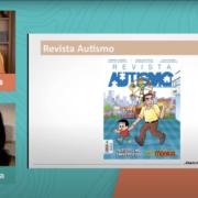 Revista Autismo mostrada na live do Instituto Farol com Mônica Sousa