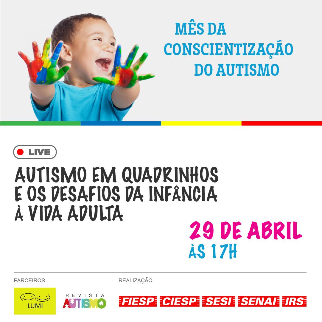 """Live sobre """"Autismo em quadrinhos e os desafios da infância à vida adulta"""" contará com o desenhista Mauricio de Sousa — Canal Autismo — Revista Autismo"""
