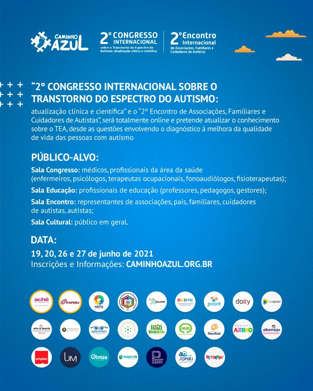Congresso Caminho Azul 2021- Canal Autismo / Revista Autismo