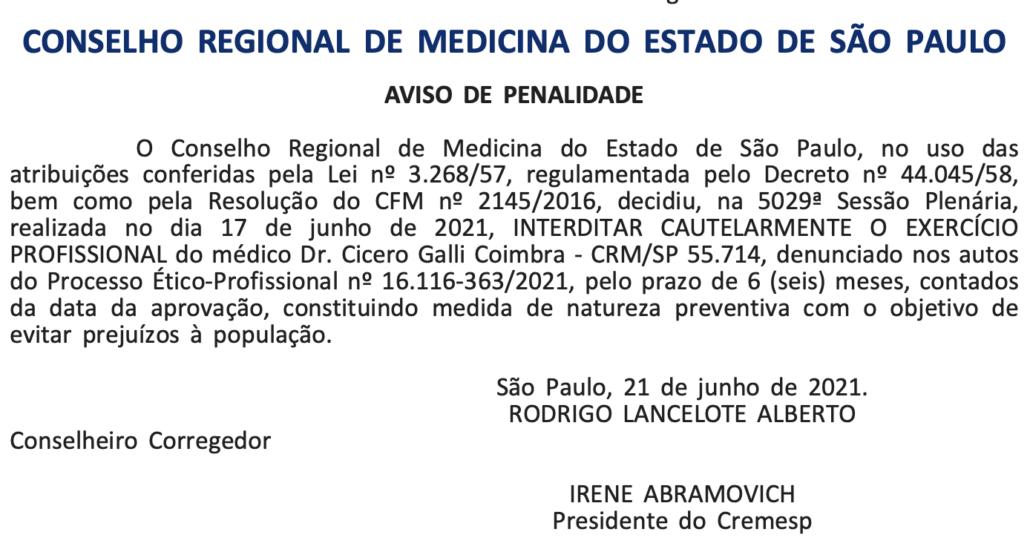 Criador do 'protocolo Coimbra', médico tem CRM interditado - Canal Autismo / Revista Autismo