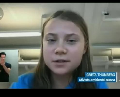 Greta Thumberg critica postura ambiental do Brasil em sessão no Senado — Canal Autismo / Revista Autismo