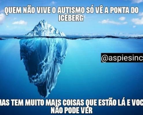 Meme Sincero: 'Quem não vive o autismo, só vê a ponta do iceberg' — Canal Autismo / Revista Autismo